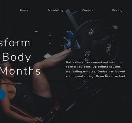 Free Gym website template for XD