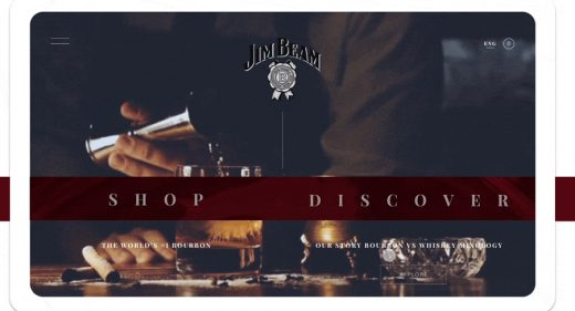 Jim Beam store XD website template