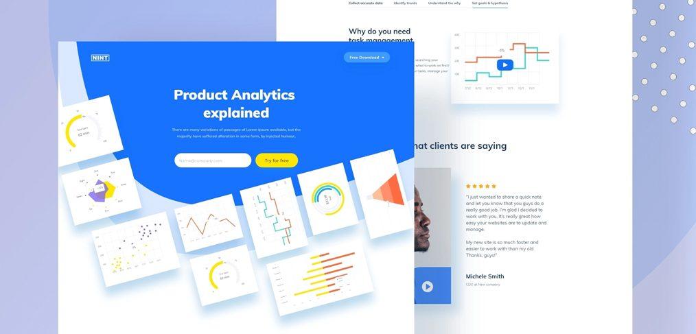 Analytics Xd Landing Page Template Xdguru Com