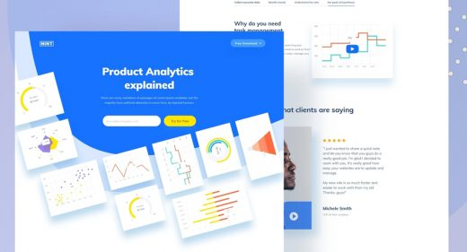 XD Analytics landing page concept