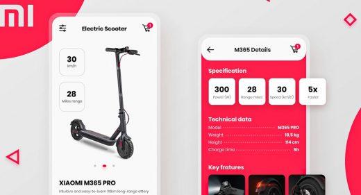 Xiaomi Mi Mobile App XD Template