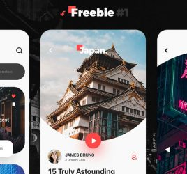Discover travel app XD template