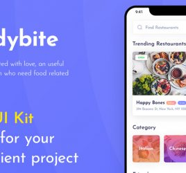 Foodybite - Free Adobe XD UI kit
