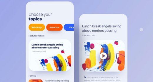 News app XD concept