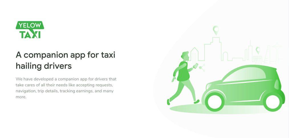 Taxi app XD free UI kit