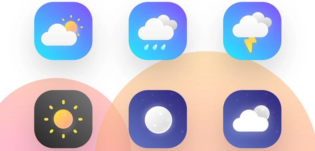 XD weather icons freebie