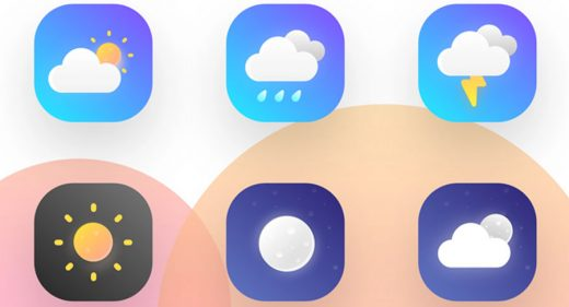 XD weather icons freebie
