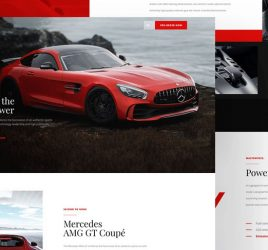 Car landing page XD freebie