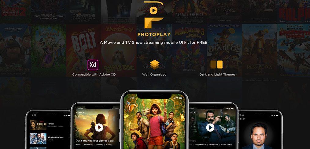 PhotoPlay - Movie XD Free ui kit