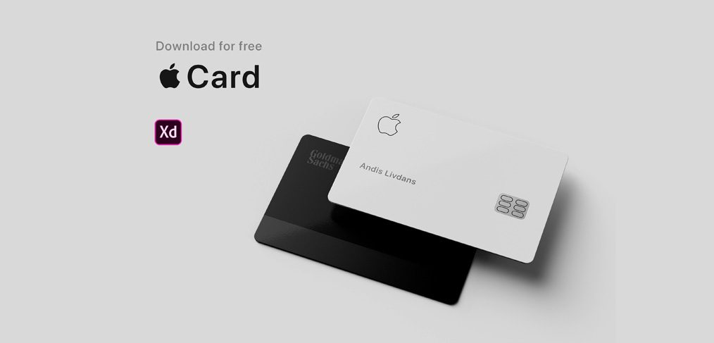 Apple Card Adobe XD mockup