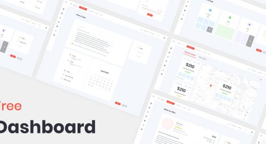 Dashboard template XD freebie