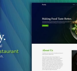 Foodie restaurant XD website template