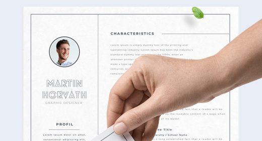 Resume template for Adobe XD