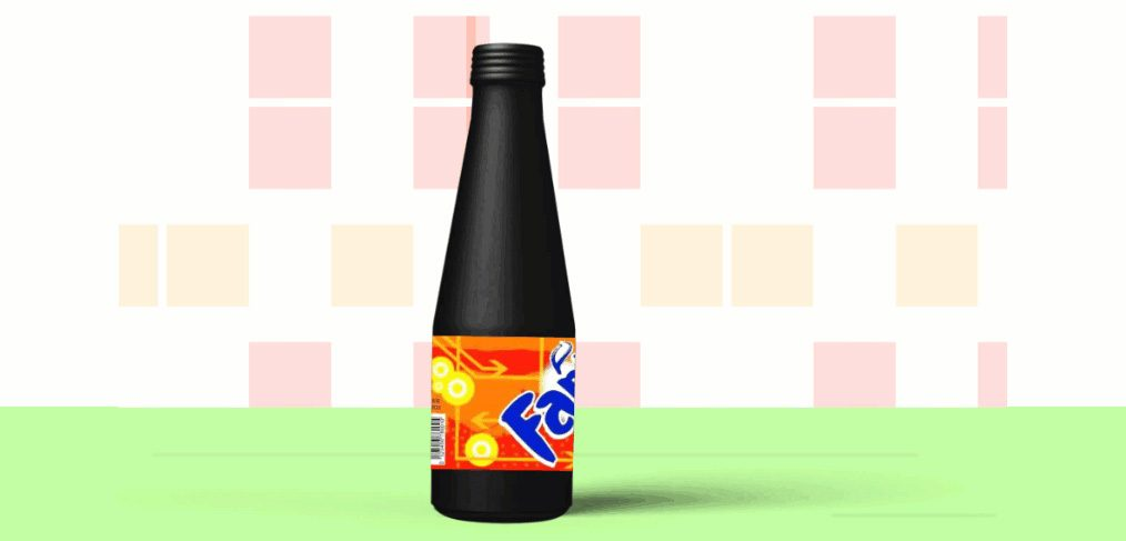 Rotating Fanta bottle XD animation