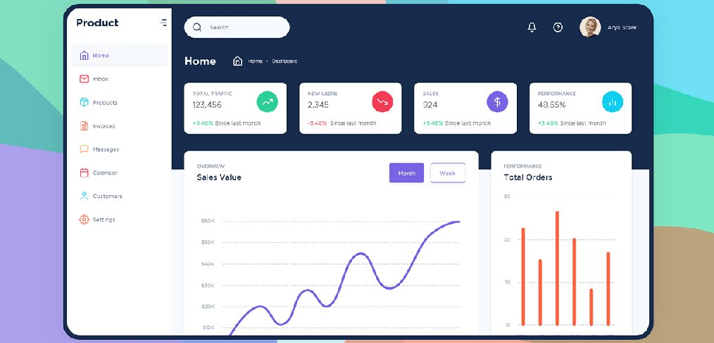Free Dashboard UI kit for XD