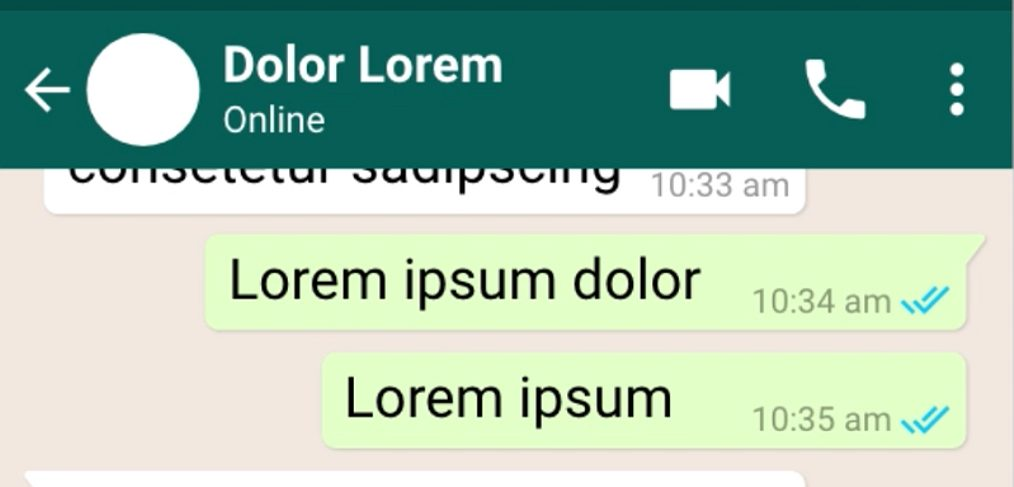 Whatsapp Chat UI Adobe XD