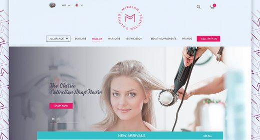 Cosmetics ecommerce XD template