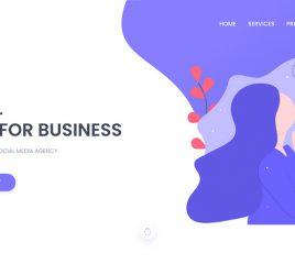 Marketing agency XD landing page