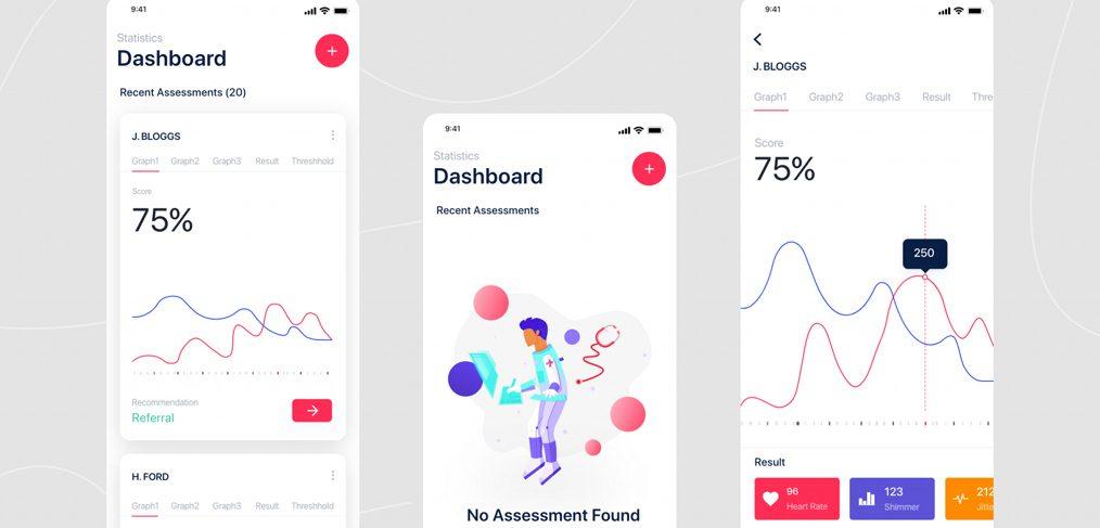 Medical / health app XD concept