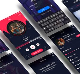 Music app Free XD UI kit