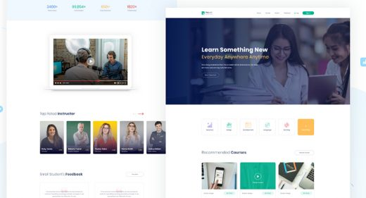 Online course XD website template