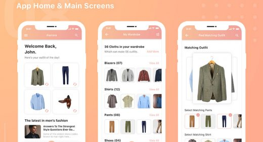 Wardrobe app template for XD