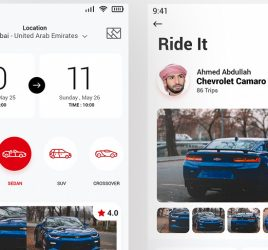 Adobe XD Car rental app concept