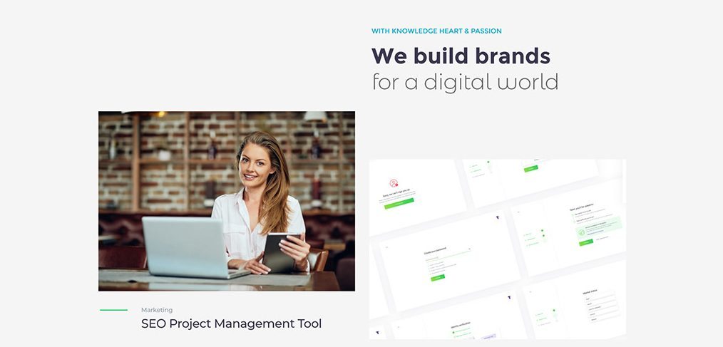 Agency website template for XD