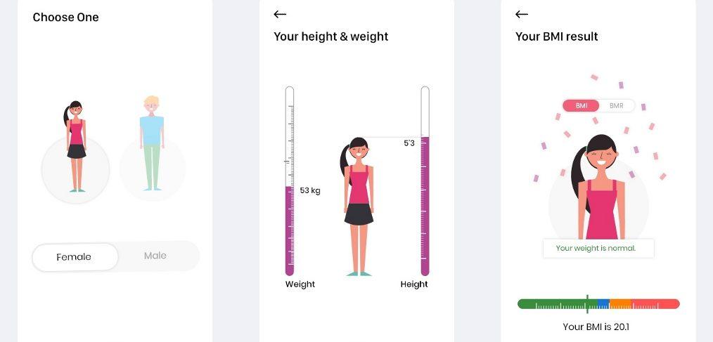BMI XD mobile calculator