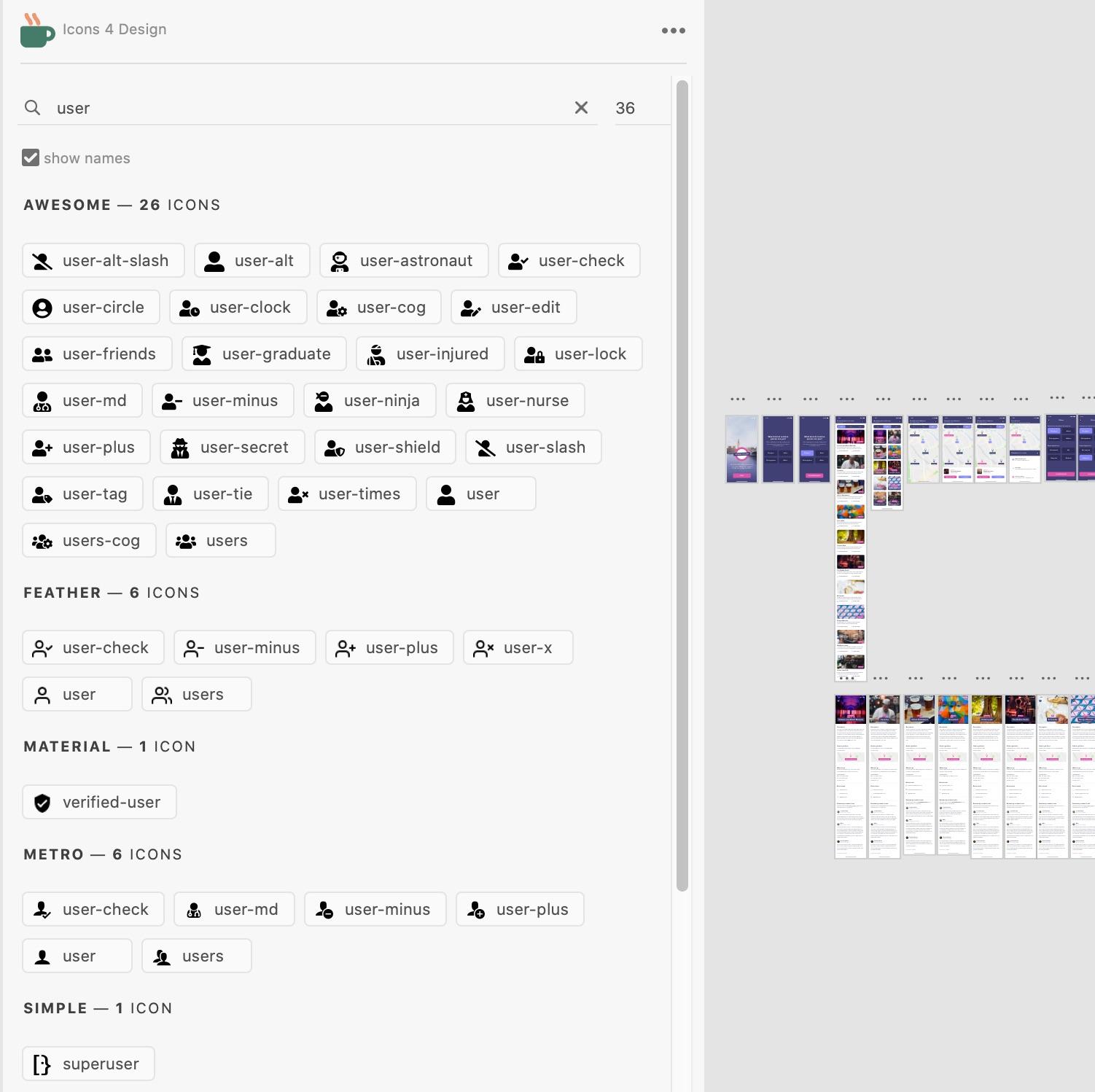 Icons 4 Design Xd plugin