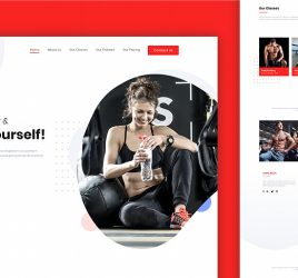 Fitness website template for Adobe XD