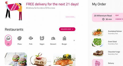 Food ordering XD template
