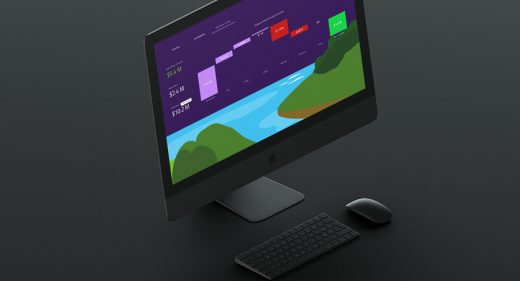 Illustrated dashboard made with XD