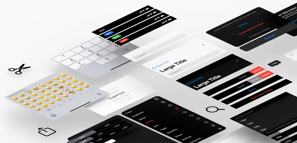 iOS 13 Adobe XD UI kit (Official)