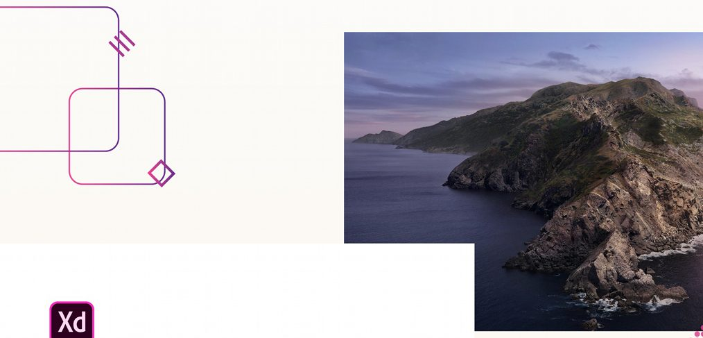macOS Catalina mockup for XD