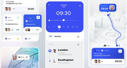 Calendar meeting XD app template