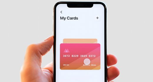 Credit card animated checkout