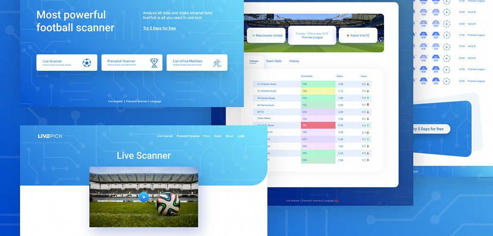 Football betting XD landing page