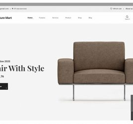Furniture ecommerce XD template