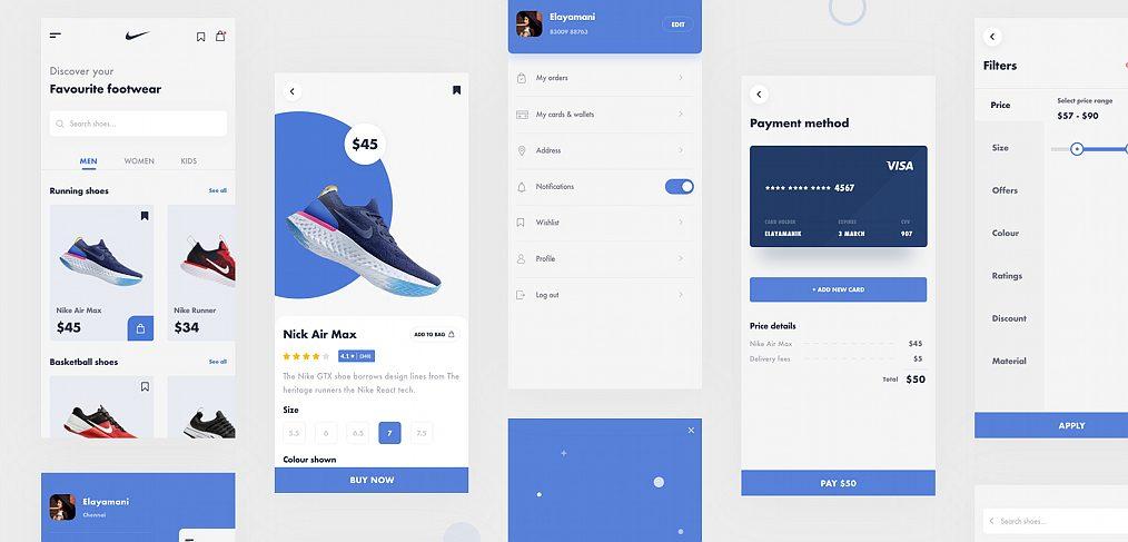 Nike app XD redesign