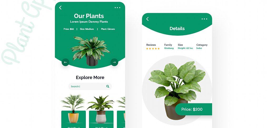 Plant shop app design template