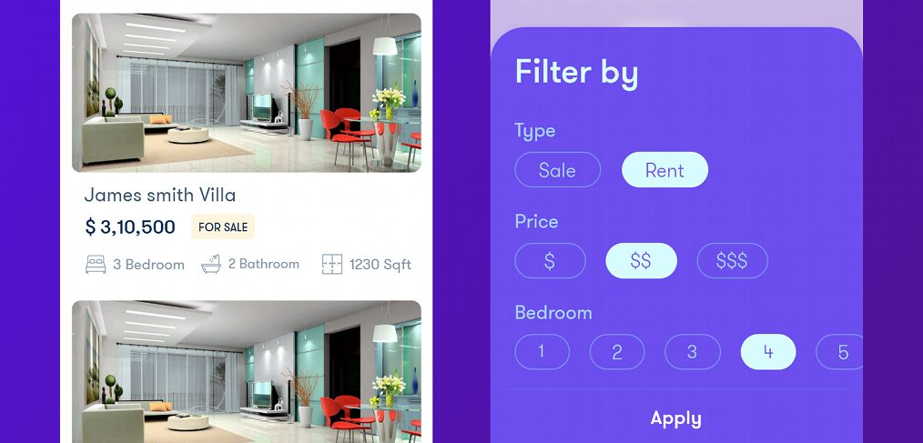Real estate XD app template