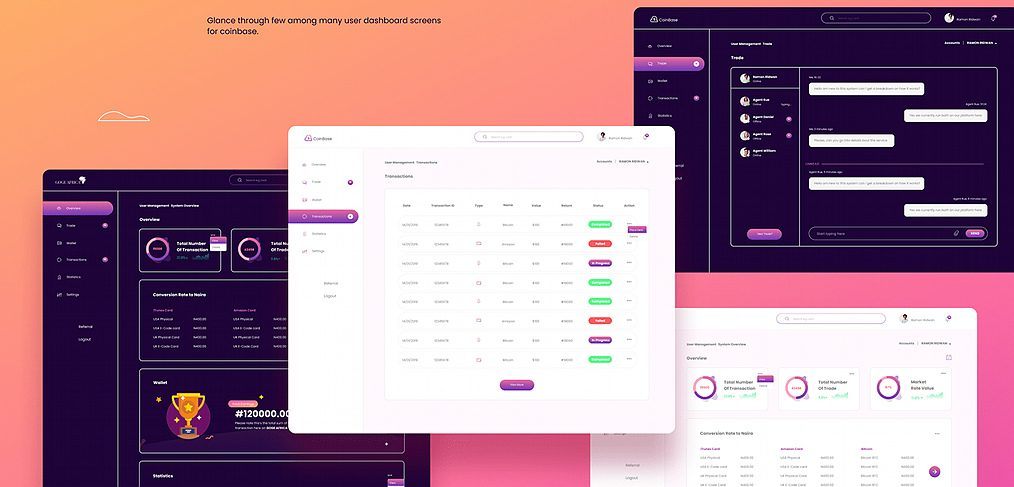 XD admin dashboard free template