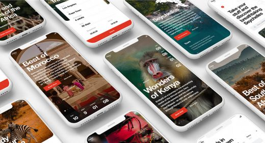Africa travel Ui kit for XD