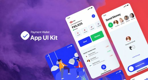 Payment wallet UI kit free sample