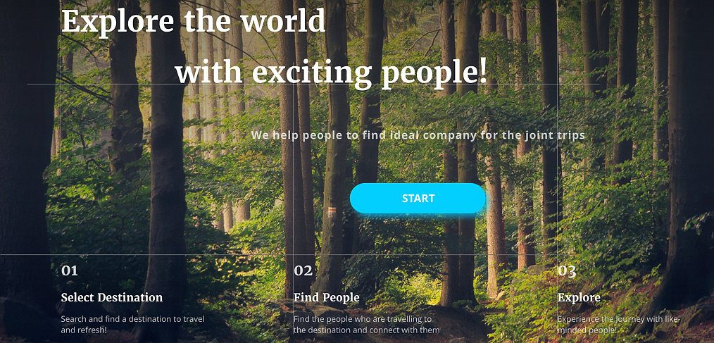 Travel landing page freebie