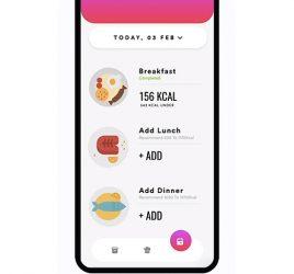 Calories app XD concept