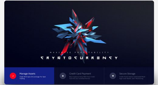 Cryptocurrency Adobe XD Landing page