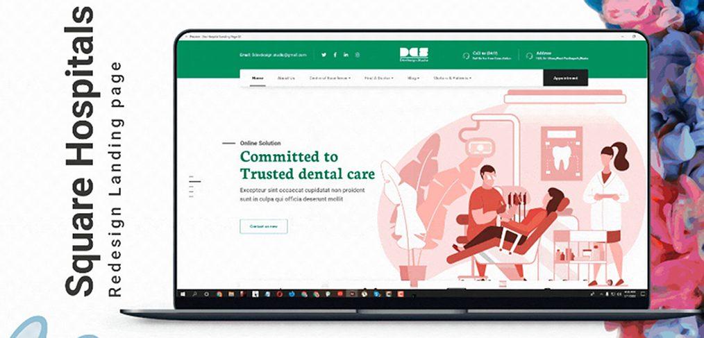 Free Hospital XD website template
