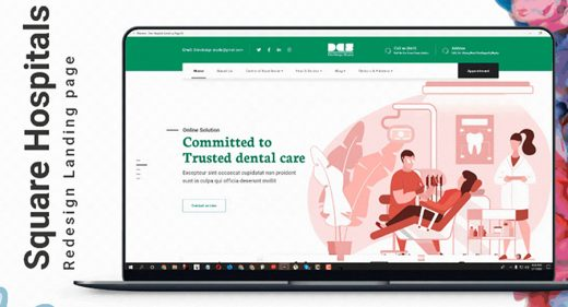 Free Hospital XD website template